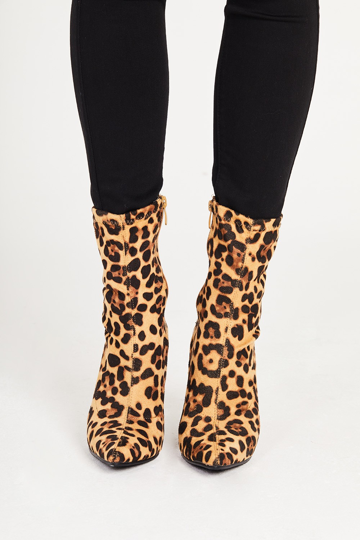 ETC. Leopard Print Ankle Boots