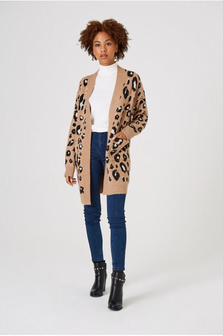 Oversized Leopard Print...