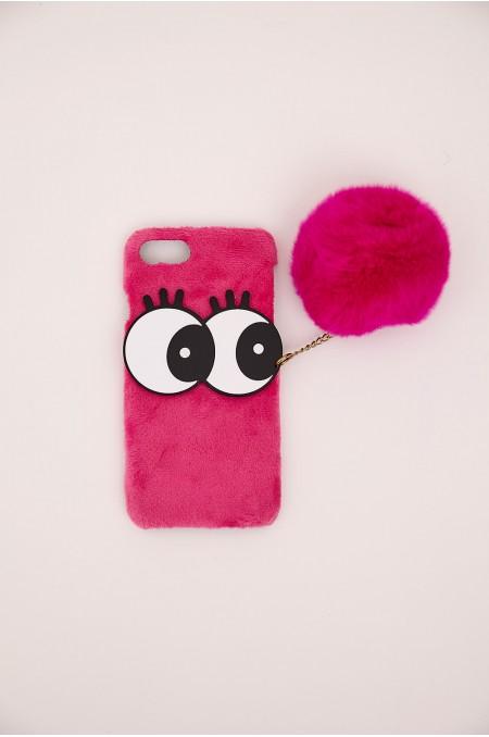 Pink Faux Fur iPhone Case...