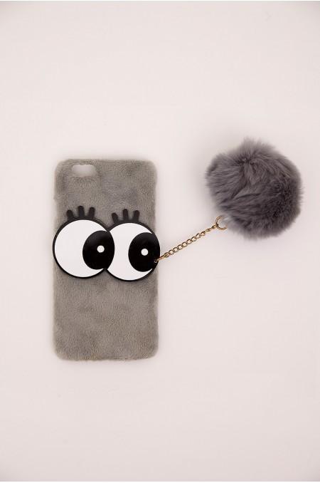Grey Faux Fur iPhone Case...