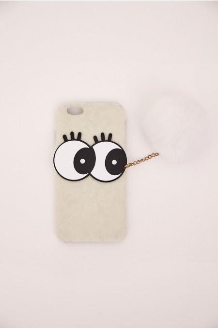 White Faux Fur iPhone Case...