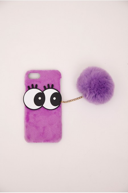 Purple Faux Fur iPhone Case...