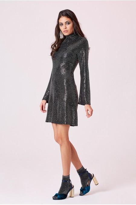 ETC. High Neck Mirrored Mini Dress
