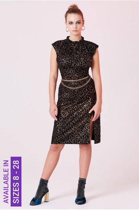 Leopard Print Velvet...