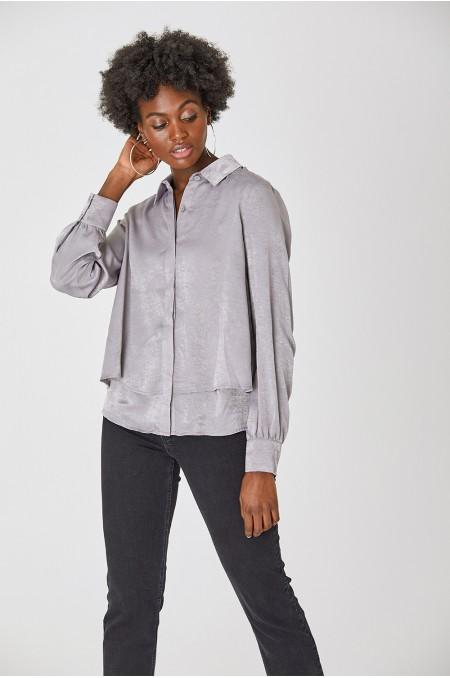 JUNI Layered Satin Shirt
