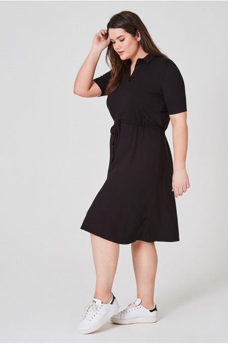 ETC. Drawstring Waist Midi Dress