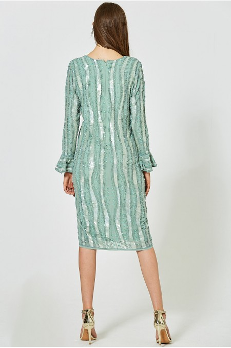 HELENE Embellished Column Dress