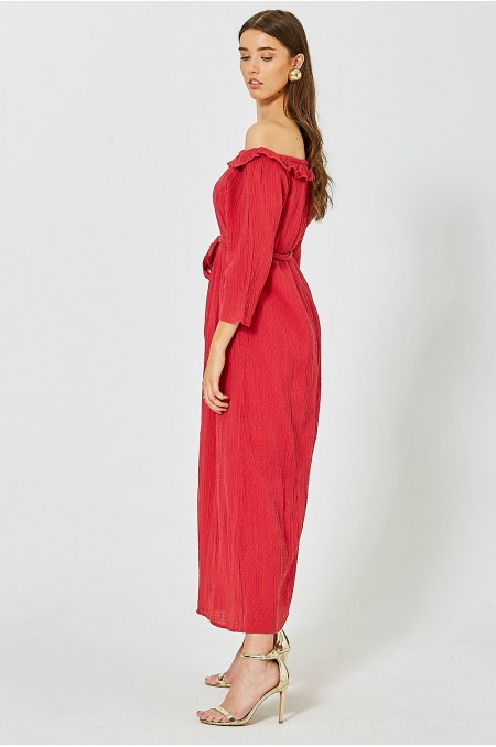 NOTCH Stitch Embroiderered Bardot Dress