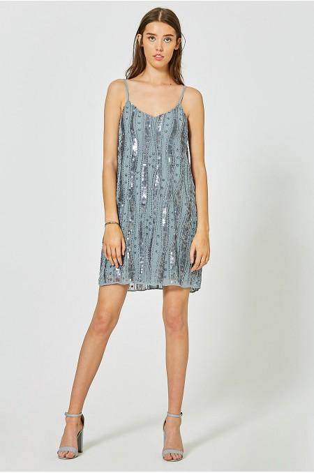 JOSIANE Embellished Slip Dress