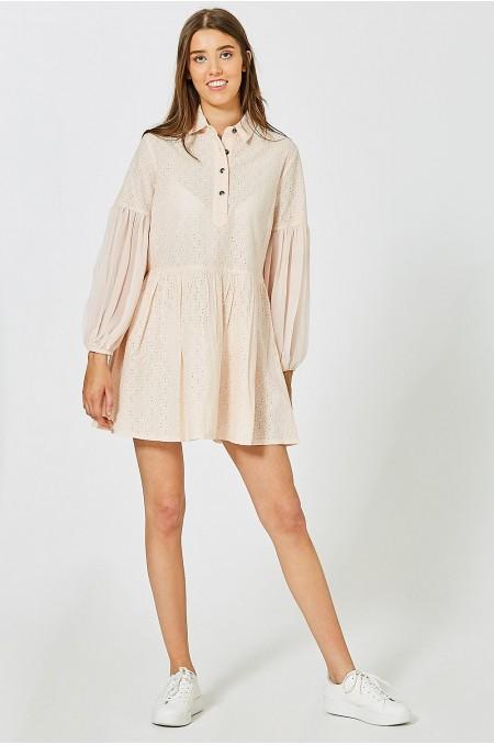 ETC. Adze Broderie Smock Shirt Dress