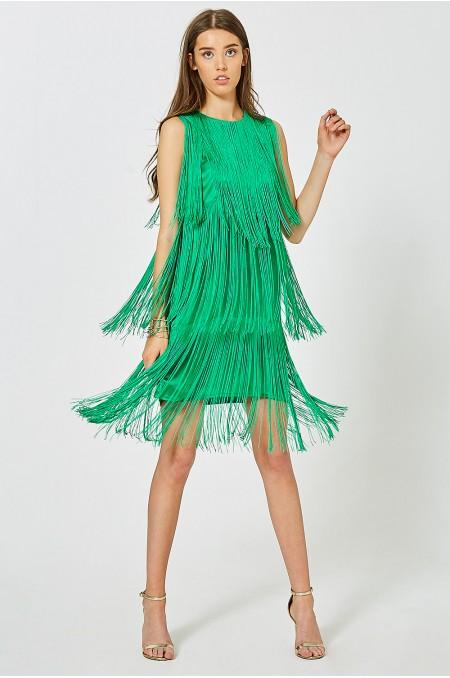 ETC. Francoise Statement Fringe Mini Dress