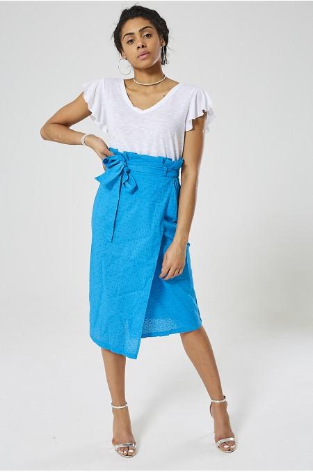 Broderie Paperbag Skirt