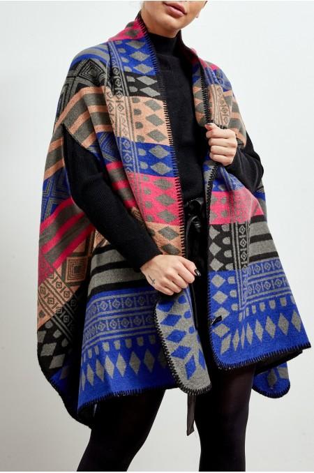 Multicolour Tribal Print...