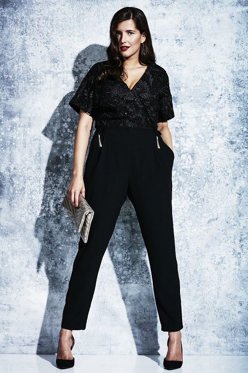 Elvi Prima Black Lace Jumpsuit P3556 5044zoom Elvi Ladies Plus